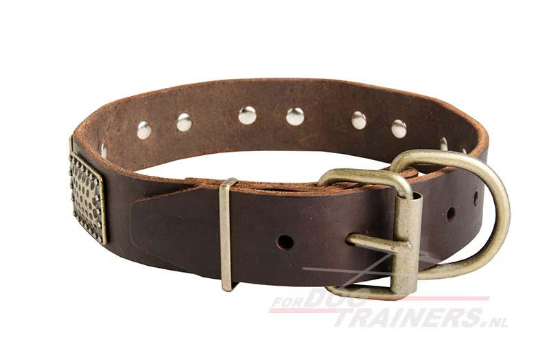 Hondenhalsband Met Licht : Brede hondenhalsband met versiering design kraag u ac